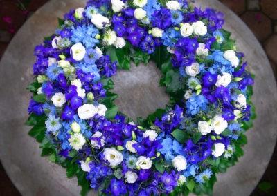 Sommerkranz Blau Weiss