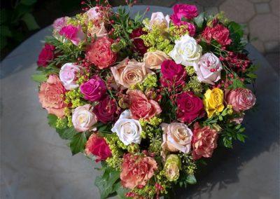 Sommerliches Rosenherz
