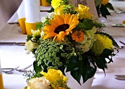 Tischdeko Gelb